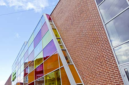 Architectural finishes using window film
